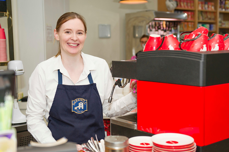 Serving barista-made Julius Meinl coffee