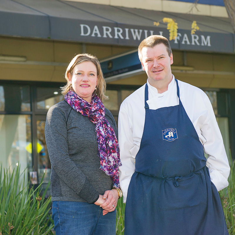 Darriwill Farm Highton owners, Fleur and Jim Whelan